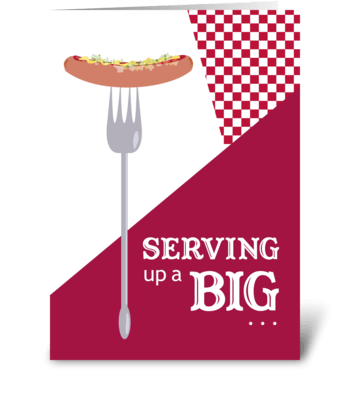 Serving Up - Barbecue Thank You greeting card