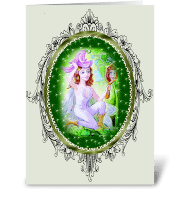 En Le Jardin greeting card