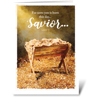 Christmas Manger greeting card