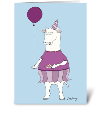 Don't Have A Cow! greeting card