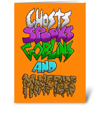It Must Be Halloween greeting card