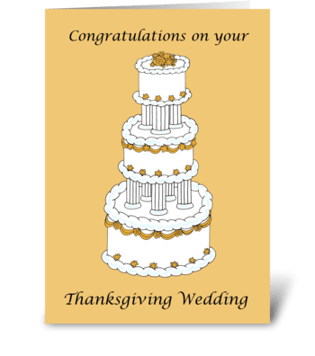 Thanksgiving Wedding Congratulations. greeting card