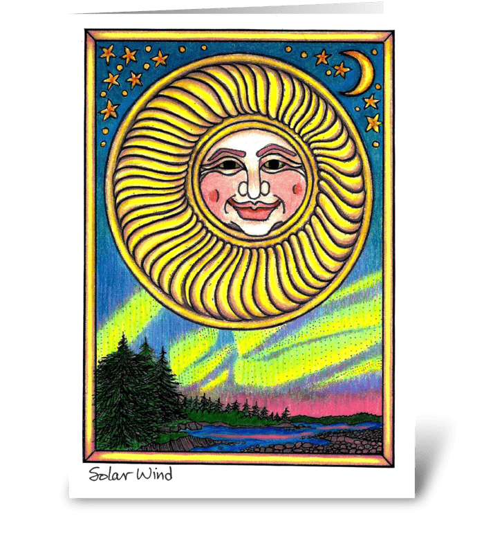 Solar Wind greeting card