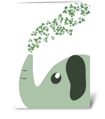 Shamrock Spray - Elephant St. Patrick's  greeting card