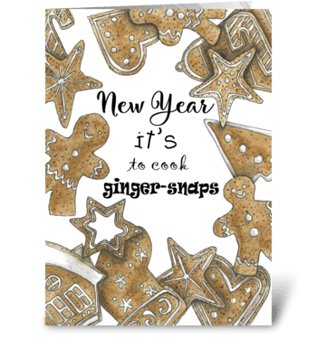 Sweet New Year greeting card