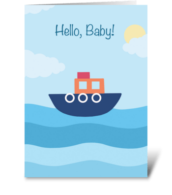 Hello, Baby! (Boat) greeting card