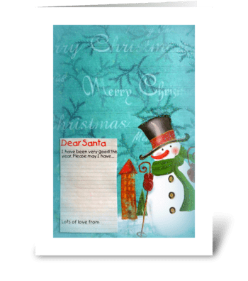 Dear Santa... greeting card