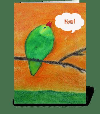 Tweet greeting card
