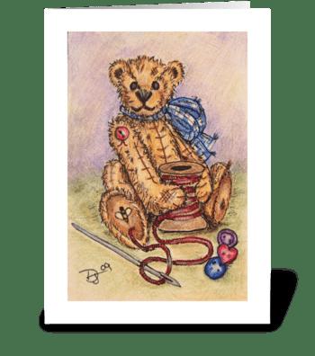 Vintage Teddy greeting card