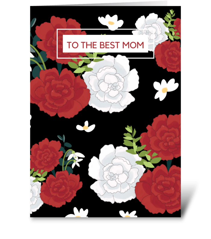 Floral Pattern Mother's Day Card greeting card