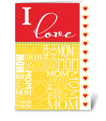 Mother's Day Love greeting card