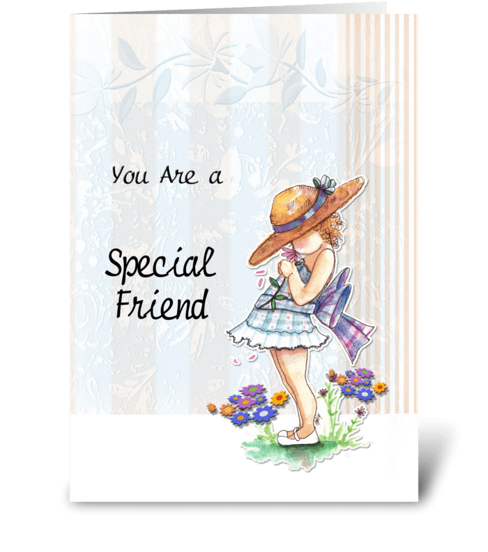 For Special Friend greeting card