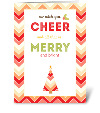 Wishing You Cheer and all that is Merry greeting card
