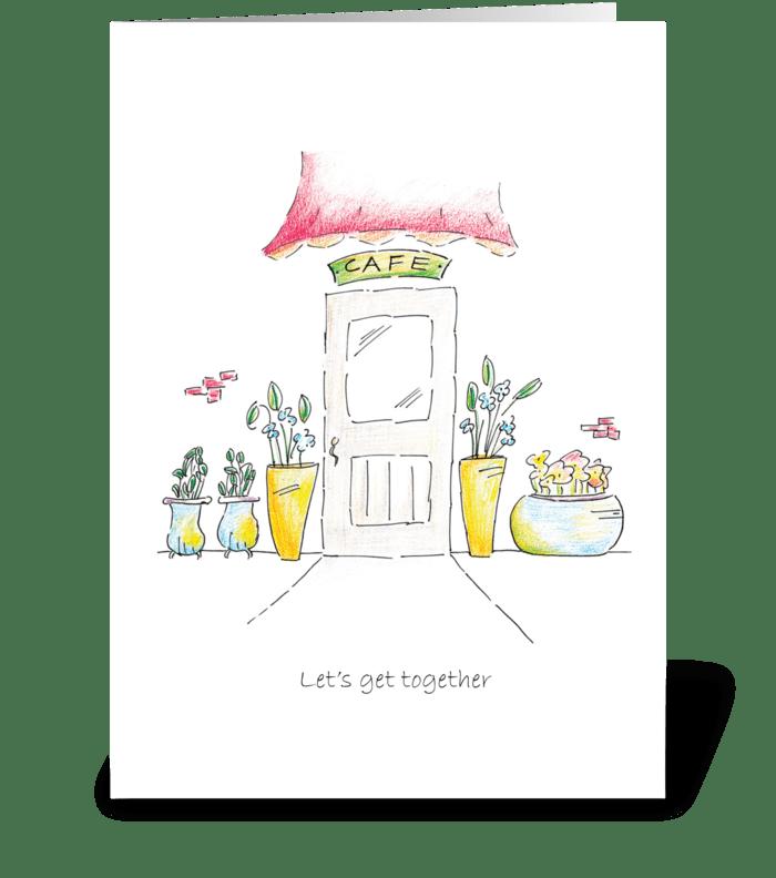 Let's Get Together greeting card