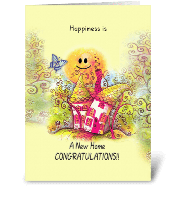Happiness is, New Home, Congratulations greeting card