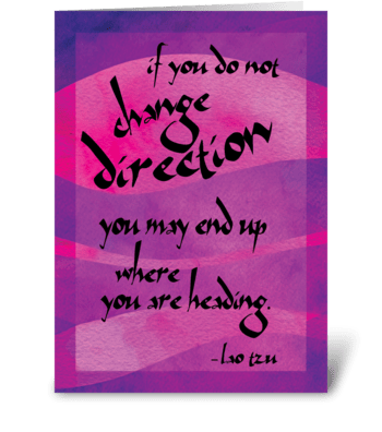 Lao Tzu Quote: Change greeting card