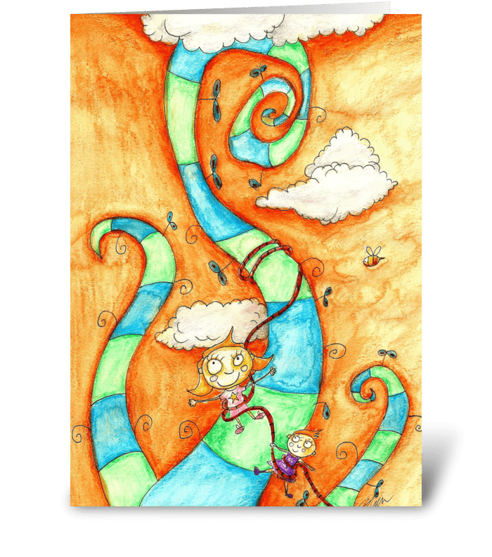 Little Climbers greeting card