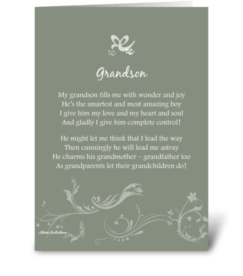 Poetry Grandson greeting card
