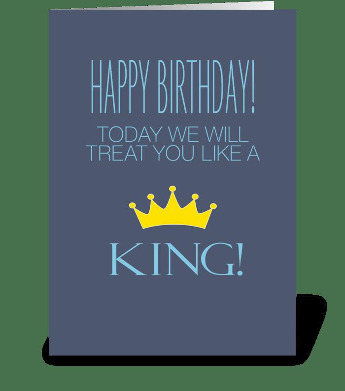Birthday King greeting card