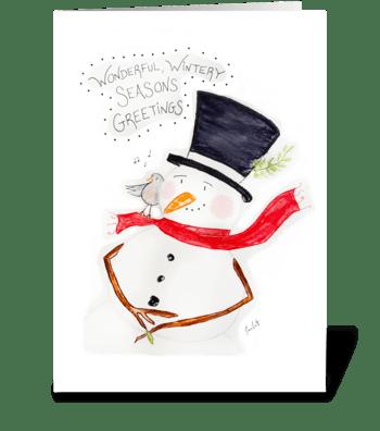 Wonderful, Wintery Seasons Greetings! greeting card
