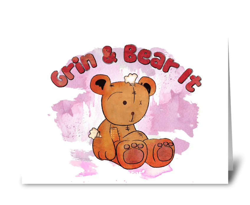 grin and bear it greeting card
