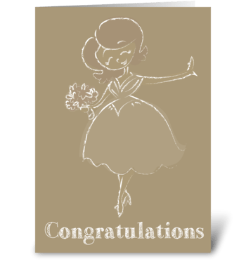 Happy Bride greeting card