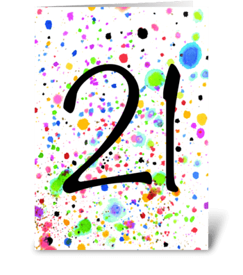 21 card, 21st Birthday Card greeting card