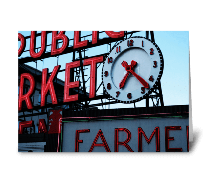 Pike Place Market greeting card