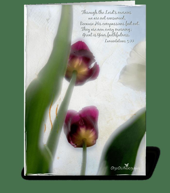 His mercies greeting card
