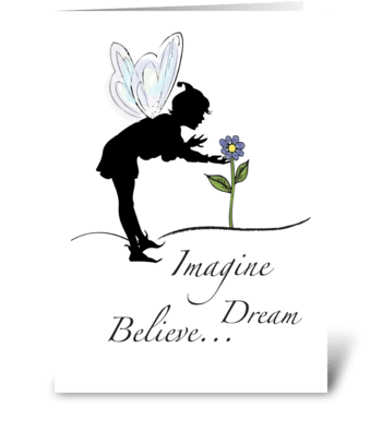 Fairy and Flowers Encouragement greeting card