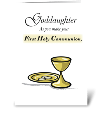 Goddaughter First Communion greeting card
