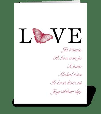 Language of Love greeting card