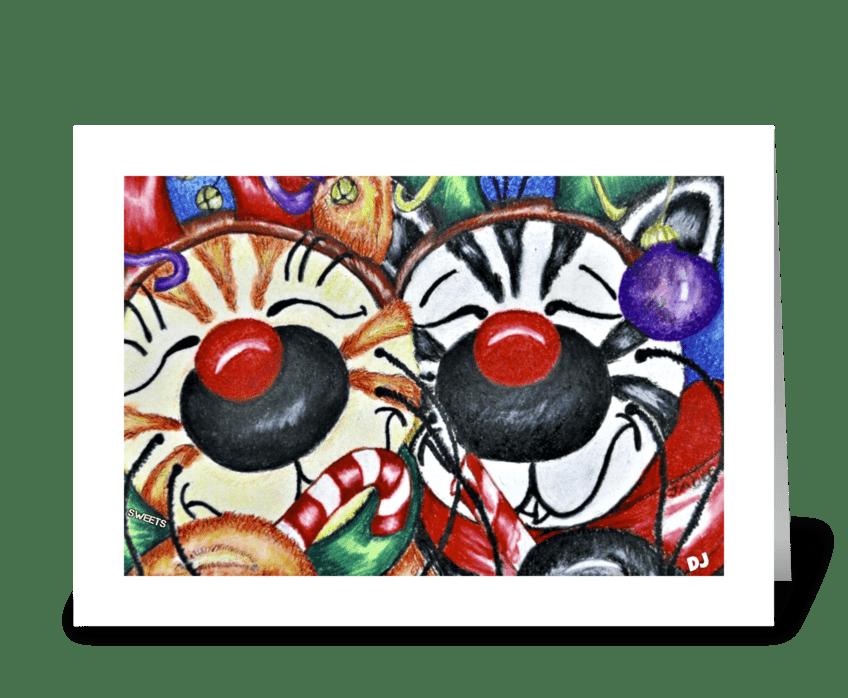 Jabber & Sweets Holiday greeting card
