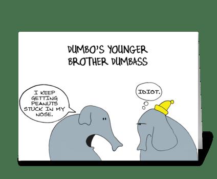 Dumbass greeting card