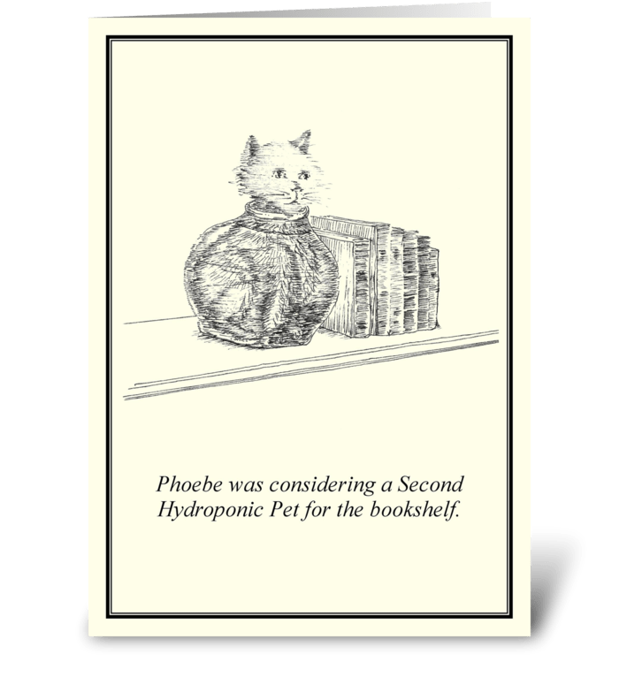 Hydroponic pets greeting card