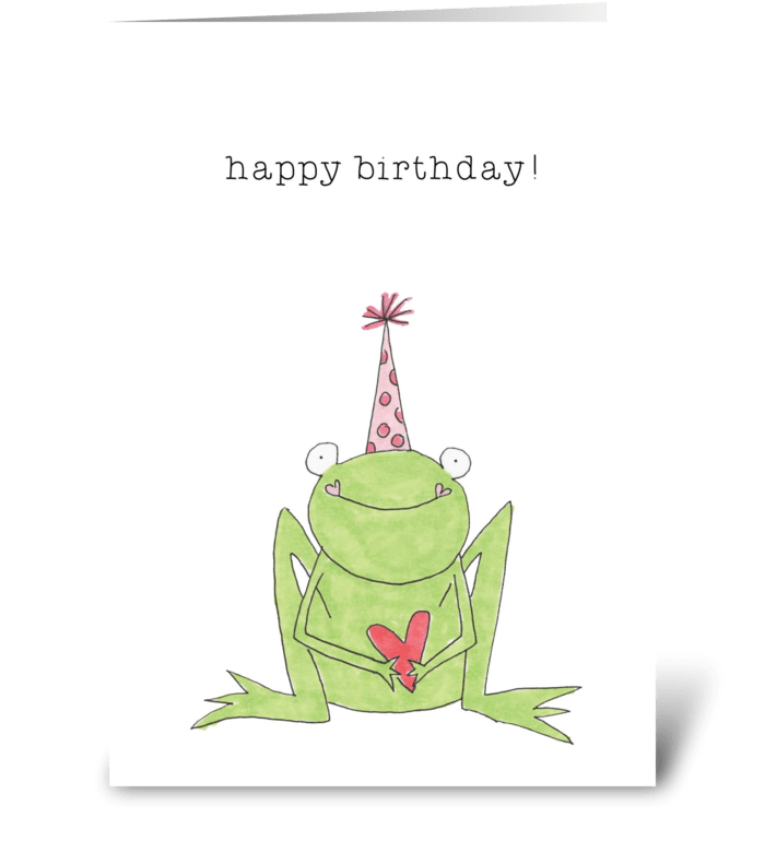 happy birthday froggy greeting card