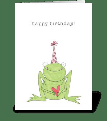 happy birthday froggy greeting card