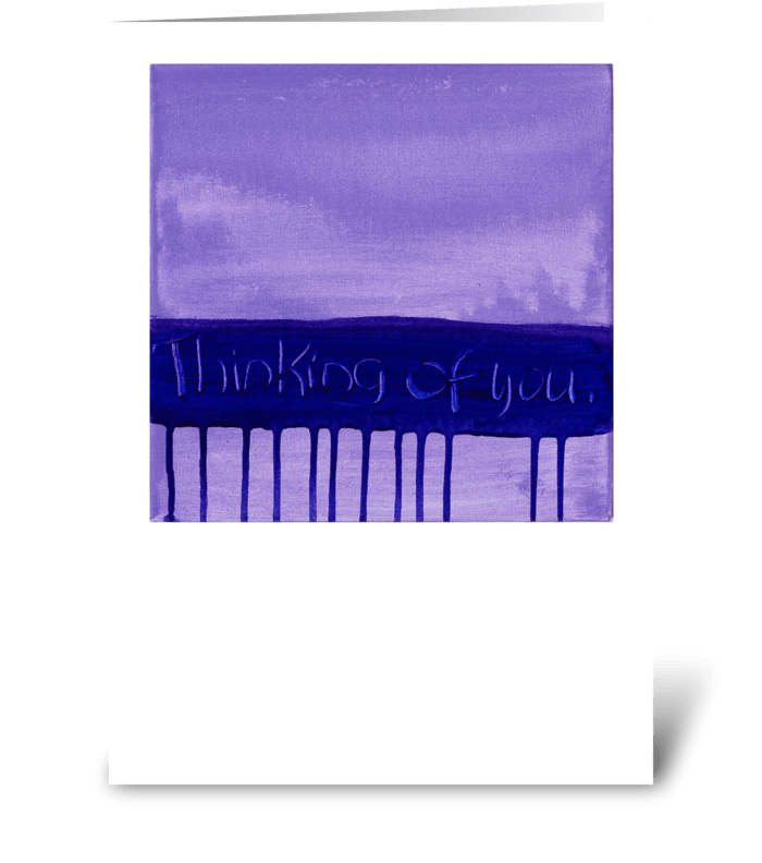 Thinking of You - Purple on Purple greeting card