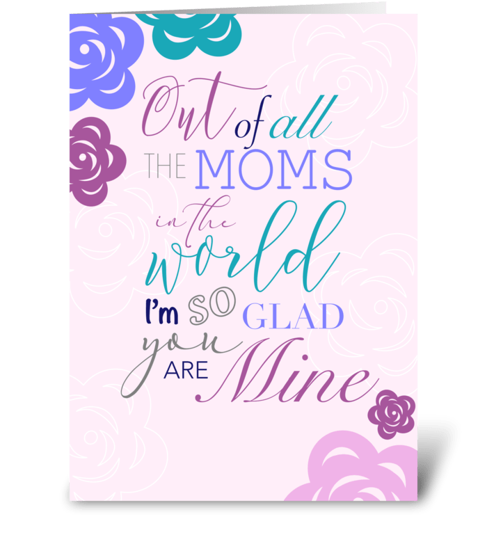All the moms in the world greeting card