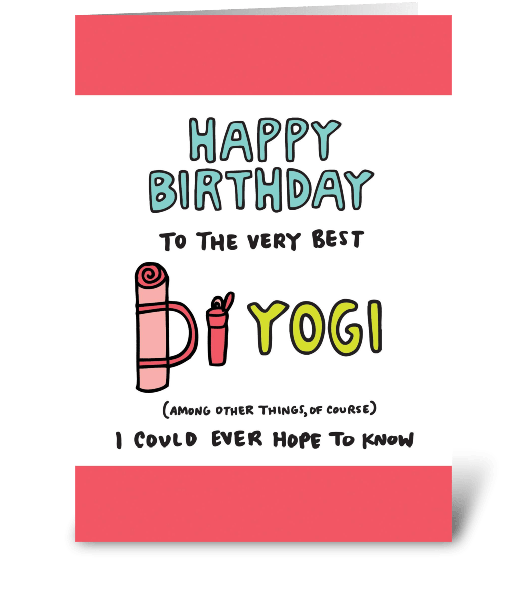 Happy Birthday Yoga