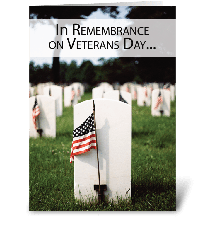 Veterans Day In Remembrance Thanksgiving greeting card