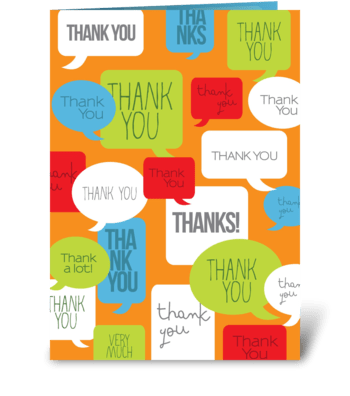 A million thanks greeting card