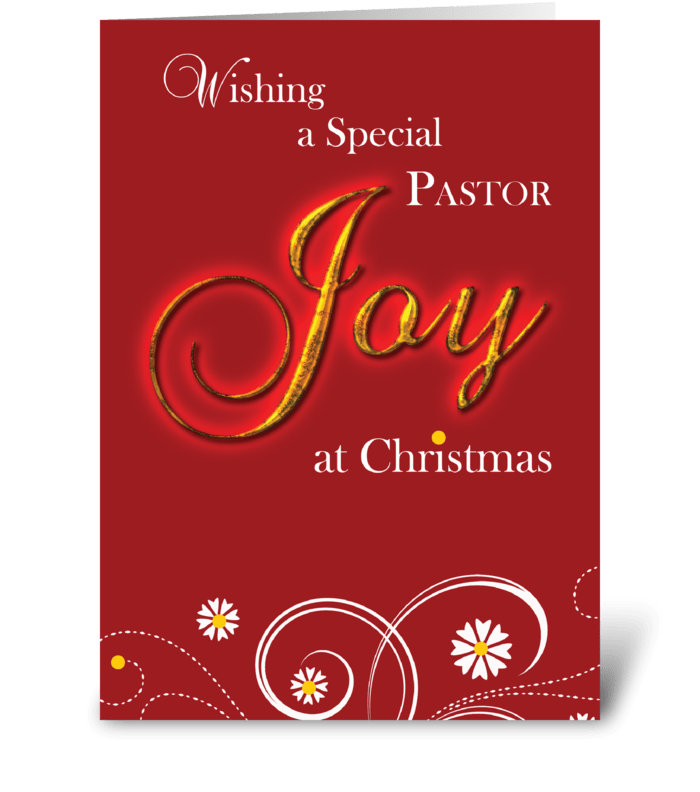 Priest, Joy at Christmas greeting card
