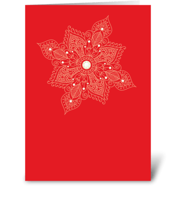 Modern Bazaar 2 Red greeting card