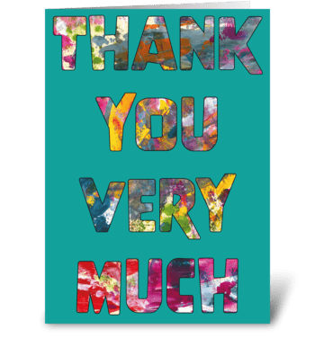 Thank You Card - Modern and Bright greeting card