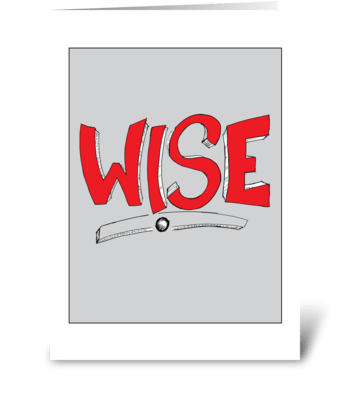 Wise greeting card