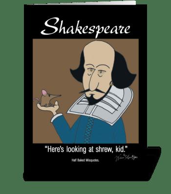 William Shakespear greeting card