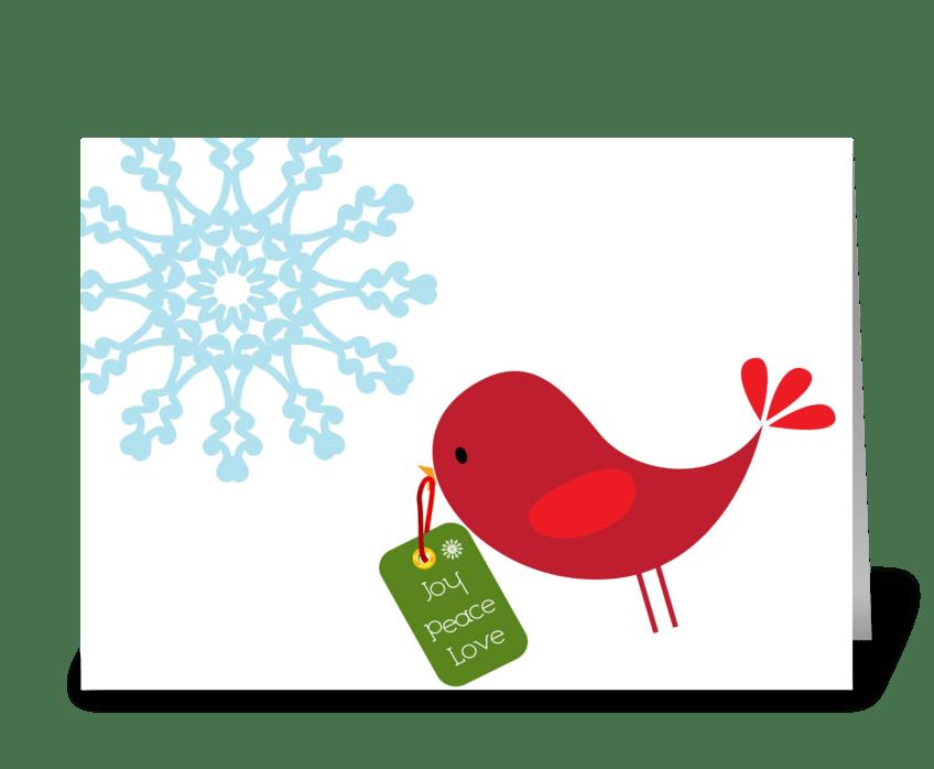 Sweet Christmas Bird greeting card