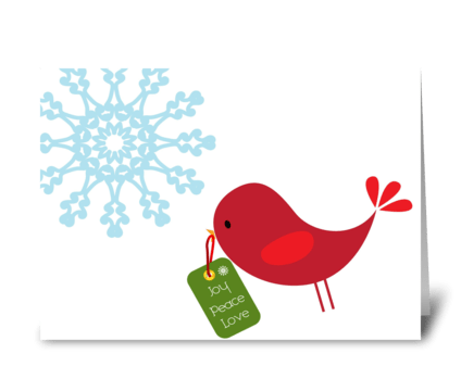 Sweet Christmas Bird greeting card