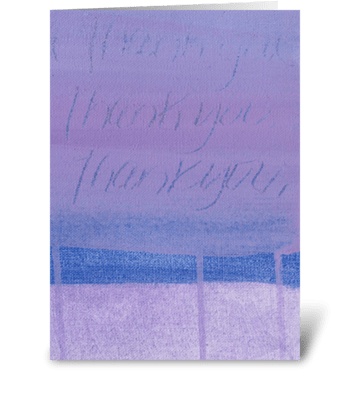 Thank You Painting - Purple on Purple greeting card